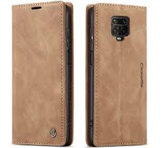 <b>CaseMe Xiaomi</b> Redmi Note 9 Pro Max Wallet Kickstand Case Brown