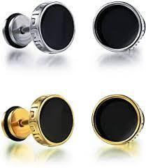 Gold - Earrings / Men: Jewellery - Amazon.in