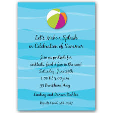 Beach and Pool Party Invitations | PaperStyle via Relatably.com