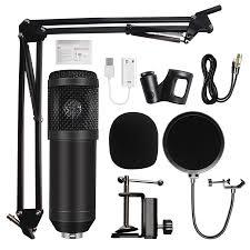 <b>BM800</b> Condenser Microphone Kit USB <b>Studio</b> - Tech Bro