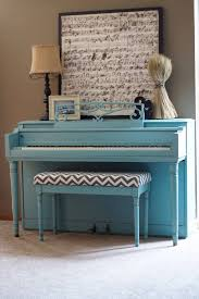 painted piano annie sloan chalk paint provence with dark waxi bench painted chalk paint