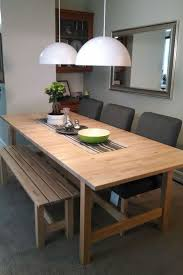 dining room bench seating: the solid birch construction of the norden dining table is a durable choice for craft projects dining table with bench seatikea