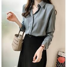<b>NiceMix Autumn women</b> 2019 fashion blouses solid plus size ...