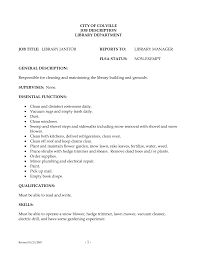 resume description for custodian equations solver doc 12751650 janitor resume objective custodian