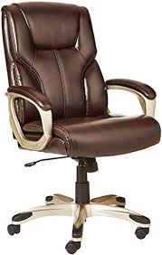 AmazonBasics High-Back, Leather Executive, Swivel ... - Amazon.com