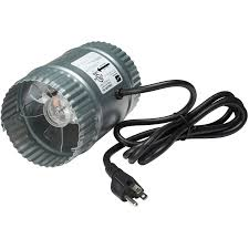 """Suncourt <b>4</b>"""" Booster <b>Duct Fan</b>, with Cord 
