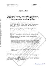 (PDF) <b>Family</b> and <b>Personal Protective</b> Factors Moderate the Effects ...