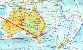 Улиткины в юго-восточном углу карты - АВСТРАЛИЯ - <b>НЗ</b> ...