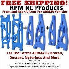 <b>RPM рычагов подвески</b> комплект передней/задней ARRMA изгой ...
