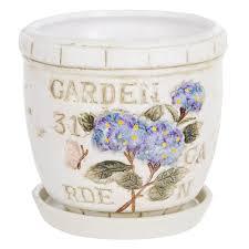 <b>Горшок цветочный Dehua</b> ceramic garden с поддоном d12 ...