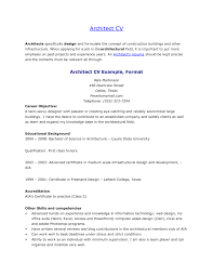 perfect architect cv or resume sample career objective and fullsize by gritte perfect architect cv or resume sample