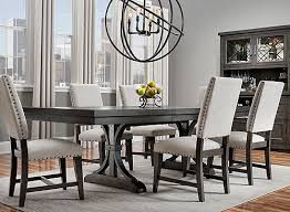 Halloway <b>7</b>-<b>pc</b>. <b>Dining Set</b> - Gray / Espresso | Raymour & Flanigan