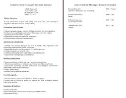construction manager resume sample the application letter construction manager resume sample construction manager resume sample