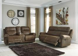reclining living room set  star rating ashley furniture austere brown reclining living room set