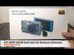 A10 1080P Full HD Dual Lens Car Dashcam Unboxing - Gearbest ...