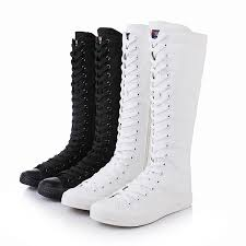 2019 <b>Hot Sale New</b> Fashion Ladies Girls Canvas Boots Women ...