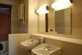 fantastic bathroom lighting ideas for simple bathroom with clean sinks and clear wall mirrors bathroom lighting ideas 4