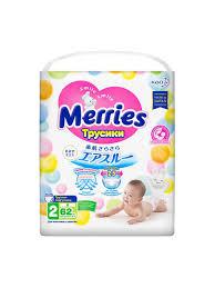 <b>Трусики</b>-<b>подгузники</b> для <b>детей размер</b> S 4-8 кг MERRIES 4022628 ...