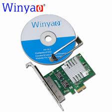 Nic Network Interface Card New Winyao E350ti <b>E</b> X1 Quad Port 10 ...