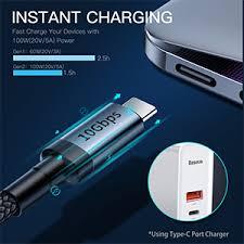 USB C to USB C 3.1 Gen <b>2</b> Cable (3.3ft), <b>Baseus</b> 10 Gbps USB Type ...