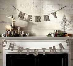 German Glitter <b>Merry Christmas Garland</b> | Pottery Barn