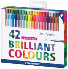 <b>Staedtler Набор капиллярных ручек</b> Triplus 334 42 цвета 334C42 ...