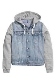 후드 데님 재킷 | Джинсовый жилет, Одежда и Стиль