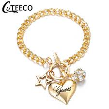 <b>Cuteeco Luxury</b> Famous Jewelry Pulseira Rose Gold Stainless Steel ...
