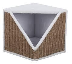 Купить домик для кошки <b>Ofelia</b> 40×38×40см бело-<b>коричневый</b> ...