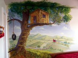Tree House Mural Tree House Wall Murals Decorating Ideas Best - Bedroom wall murals ideas