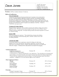 resume examples  veterinary technician resume sample  veterinary    sample qa resumes   skills and qualifications as network engineering