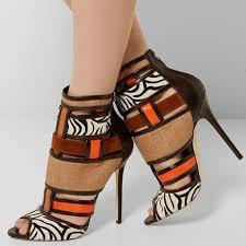 Shoespie Bohemia <b>Contrast</b> Color Patchwork Peep <b>Toe</b> Ankle Boots ...