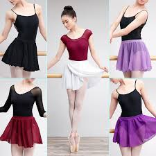 Chiffon <b>Wrap Ballet Skirt</b> Lyrical Transparent Girls <b>Women</b> Pull On ...