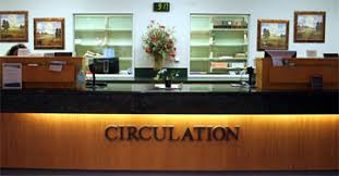 Image result for library circulation desk
