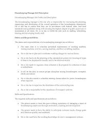 job description housekeeping livmoore tk job description housekeeping