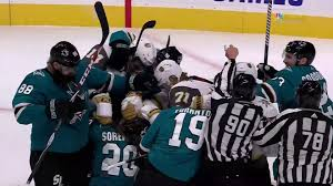 Sharks and Golden Knights brawl after San Jose scores in third ...