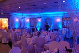 event up lighting blue wedding uplighting