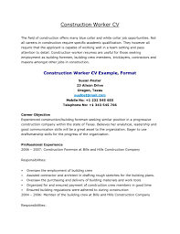 construction worker resume getessay biz construction worker resume