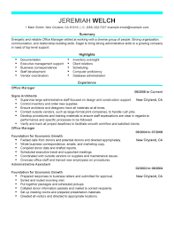 best office manager resume example livecareer admin modern cover gallery of it director resume template