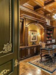 large home office boxed ceilings built in bookcases and hardwood floors amazing home office luxurious jrb house