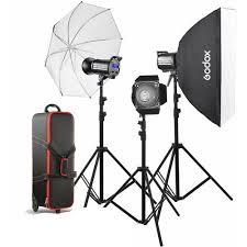 <b>Godox Gemini GS400II</b> 3x Light Studio Kit – KAMERAZ