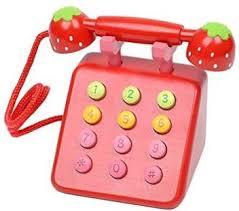 Samber <b>Kid'S Toy</b> Telephone Set <b>Simulation Wooden</b> Telephone ...