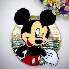 24*<b>24.cm Hot Sale Cartoon</b> Cloth Sequined Patches Mickey Mouse ...