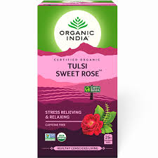 Buy Organic India <b>Tulsi Sweet Rose</b> 25 <b>Tea</b> Bags | Free Shipping