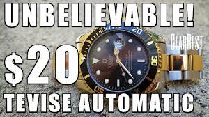 Astounding $20! <b>Tevise</b> T801A <b>Automatic Watch</b> Review c/o ...