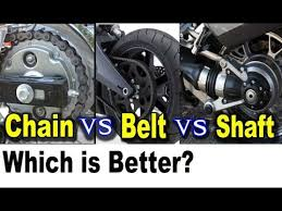 <b>Motorcycle</b> Chain vs <b>Belt</b> vs Shaft <b>Drive</b> Pros Cons - Which is Better ...