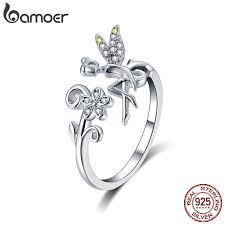 BAMOER <b>New Arrival 925 Sterling</b> Silver Fairy & Daisy Flower Open ...