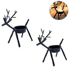 Annibus Holidays Reindeer Tea Light Holder <b>Set of 4 Christmas</b> Tea ...