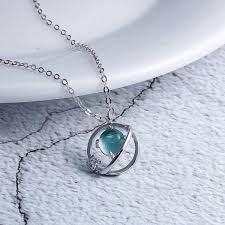 2019 <b>Silvology 925 Sterling Silver</b> Blue Planet Pendant Necklace ...