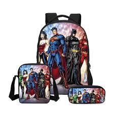 <b>VEEVANV</b> Batman Boys School Backpacks Fashion Travel <b>3 Pcs</b> ...